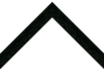 30mm Flat painted grain black