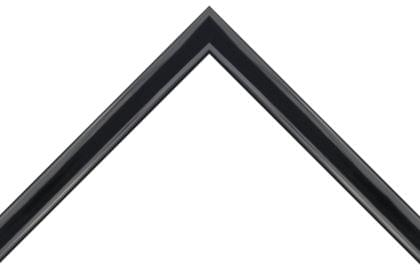 22mm Rounded edge high gloss solid black