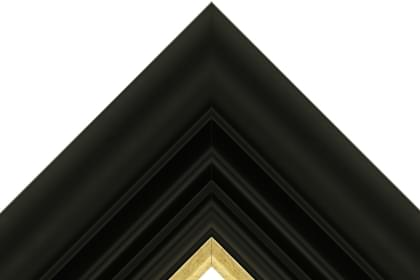 110mm Corinaldo smooth black with brushed antique gold line