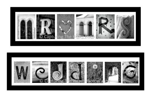 Wedding Letter Art Frames