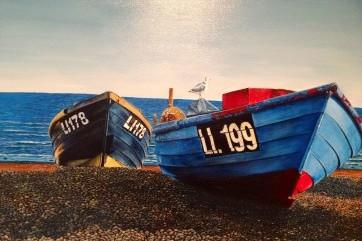 The Fishermens' Boats by Toulla Hadjigeorgiou