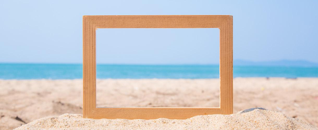 Summer Lovin' Coloured Picture Frames