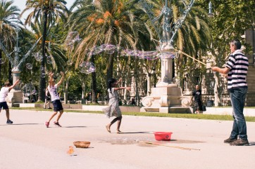 Bubbles In Barcelona by Jack Pickerill