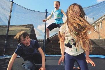 Hysterical trampoline fun! by Tania Smith