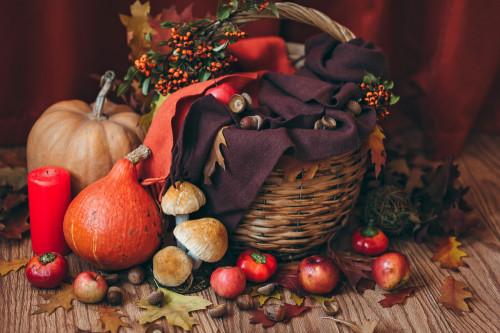 Autumn themed basket