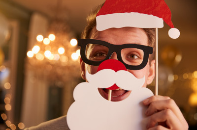 Man with Santa disguise