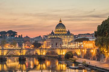 The Vatican from the Ponte Umberto Bridge