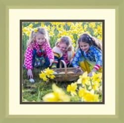 Kids Picking daffodil flower