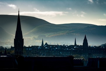 Edinburgh from the castle grounds by Lance Bellers