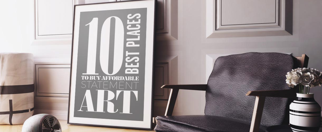 10 Best Places to Buy Affordable Statement Art