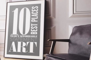 Top 10 websites for affordable wall art