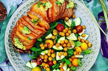 My hasselback sweet potato by Joanne Bean