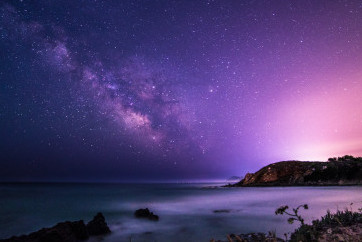 A beautiful milky way in the sky of Sardinia