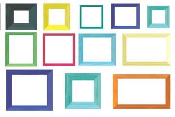 coloured summer frames