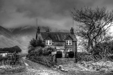 Image of B&B Wasdale Cumbria in black and white